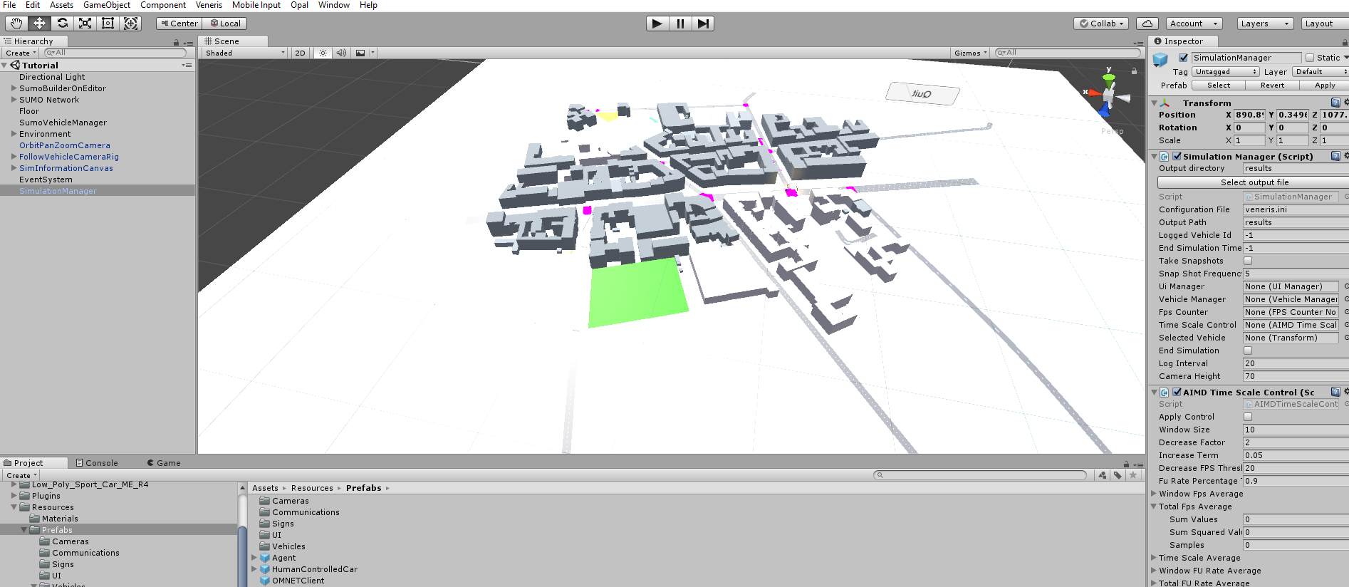Veneris: vehicular network simulation with realistic physics